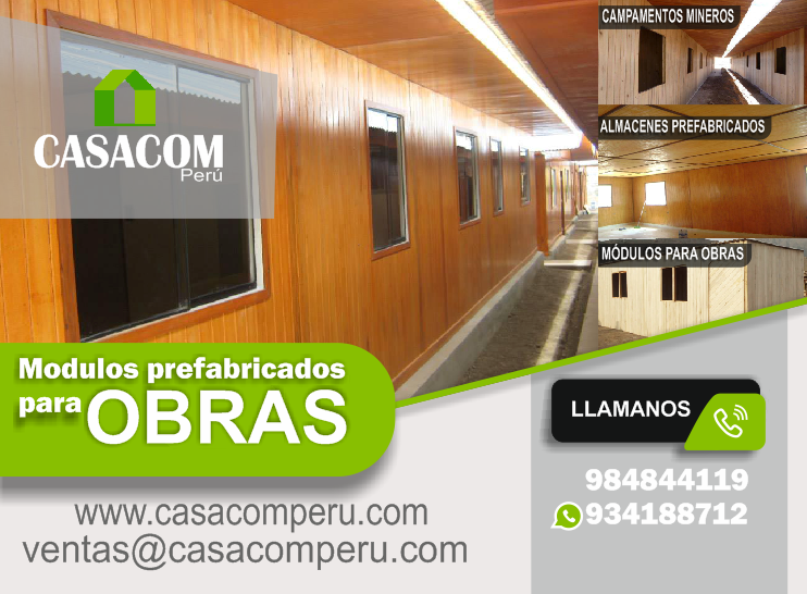 Módulos De Madera Para Oficina Y Obras Casacom Peru