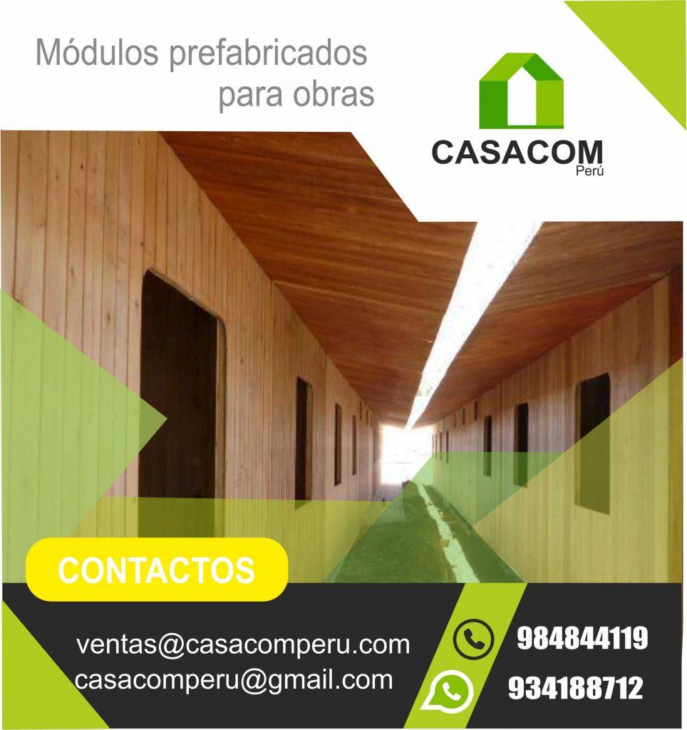 Módulos Para Obras En Lima De Madera Casacom Peru