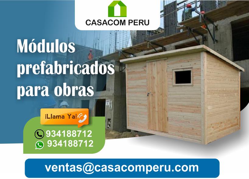 Casetas Módulos Prefabricados De Madera Casacom Peru