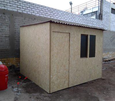 modulo de madera para obra